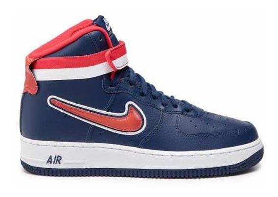 Tênis Nike Air Force High 07 Azul Tam 46