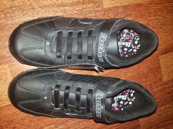 Skechers Zapatillas Negras, Nuevas, 22 Cm, Con Etiquetas!