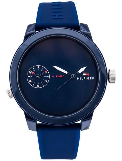 Tommy Hilfiger 1791325 Sport Azul 44mm 12xs/juros Promoção!!