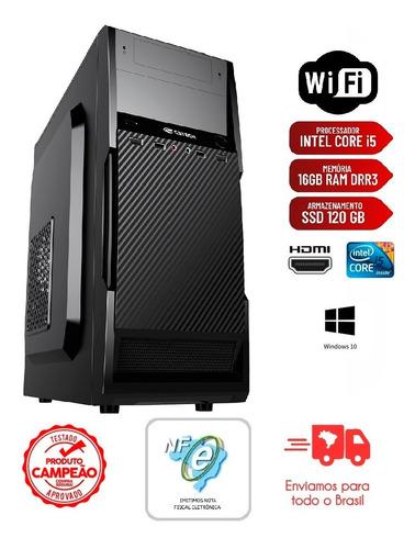Imagem 1 de 6 de Pc Intel Core I5 3ª Ger 16gb Ssd 120gb Fonte 200w