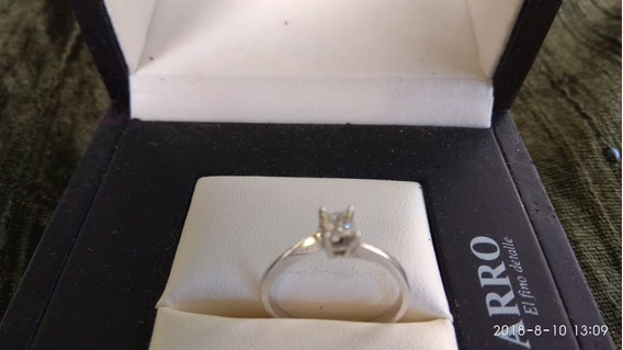 Anillo 14k Diamante 42 Pts. Compromiso Oro Blanco Brillante