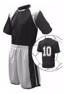 Kit 16 Uniformes Futebol ( Camisa, Calção E Meião)