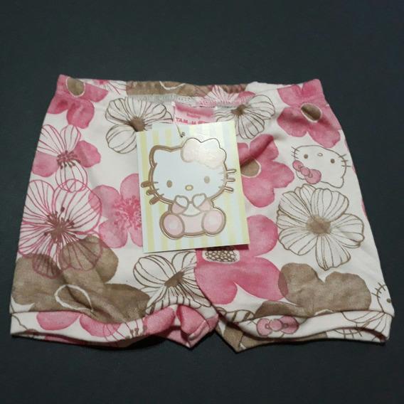Shorts Bebê Menina Hello Kitty 6-9meses Novo Sanrio Delicado