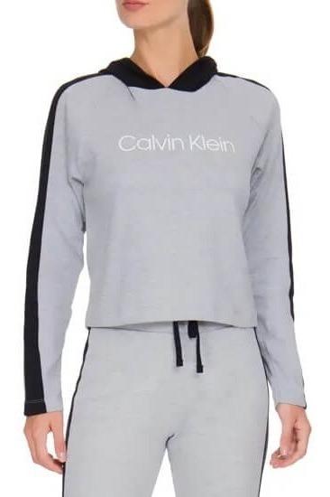 Blusão De Moletom Com Capuz Monograma Calvin Klein Rico022