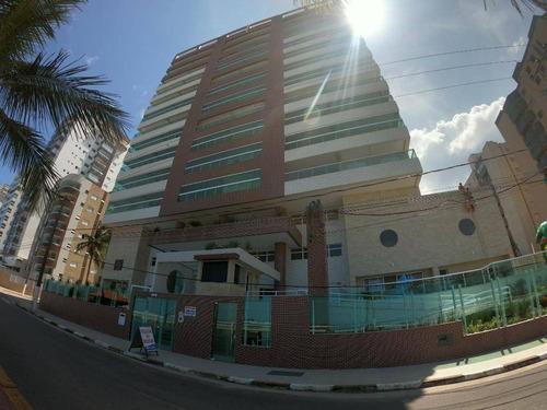 Apartamento Com 2 Dormitórios À Venda, 76 M² Por R$ 450.000,00 - Centro - Mongaguá/sp - Ap1981