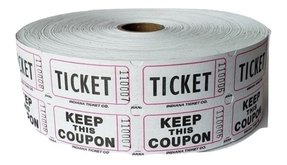 Boletos Dobles 1 Rollo De 2000 Tickets