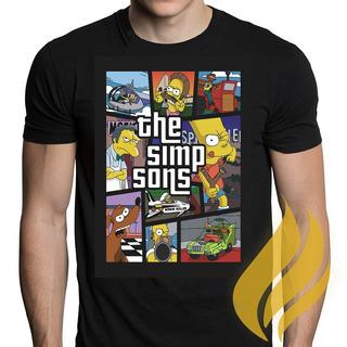 Camiseta Camisa Donuts Homer Simps Moda Mega Liquidação!