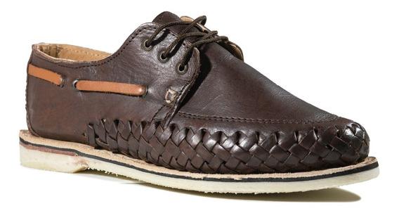 Huarache Zapato Artesanal Mexicano De Cuero Para Hombre