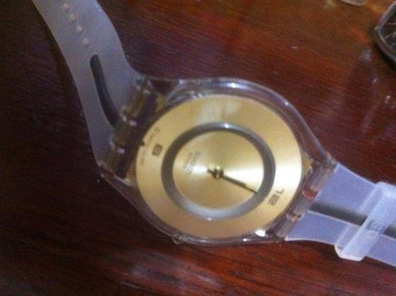 Relógio Swatch Ultrafino Com Defeito Pulseira Original Colec