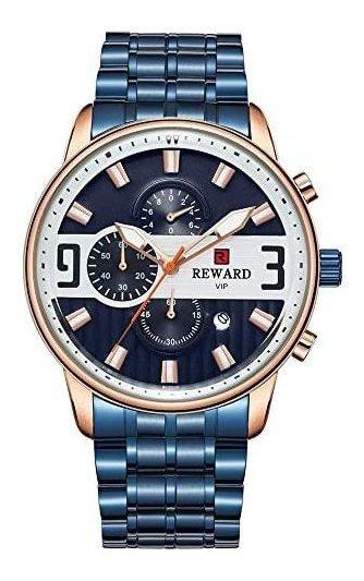 Reloj Reward Vip Para Hombre Elegante Blue