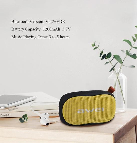 Caixa De Som Bluetooth Sem Fio Portátil 4,5w Rms Awei Y900
