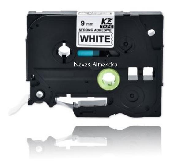 Fita Compativel Rotulador Brother Branca 9mm Kze S221