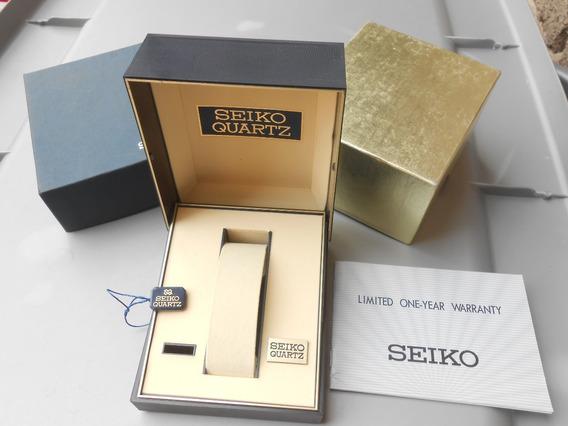 Original Estuche Caja De Reloj Seiko Quartz