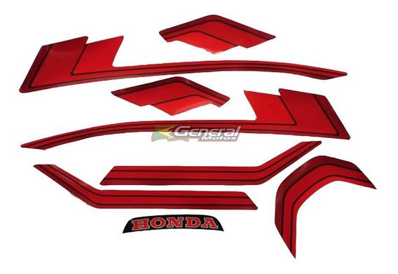 Kit Adesivo Jogo Faixas Moto Honda Cb 400 1982/83 Preta