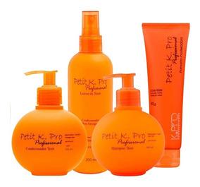 Kit Kpro Petit Teen Shampoo+ Cond+ Leave-in + Pomada 4 Produ