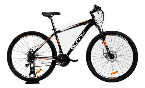 Imagen 1 de 1 de Mountain bike Sunny MTL 290 R29 M 21v frenos de disco mecánico cambios Sun Run y Shimano Tourney color negro/naranja con pie de apoyo