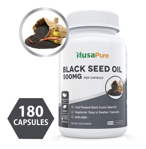 Aceite De Comino Negro Capsulas Nigella Sativa Semilla Negra
