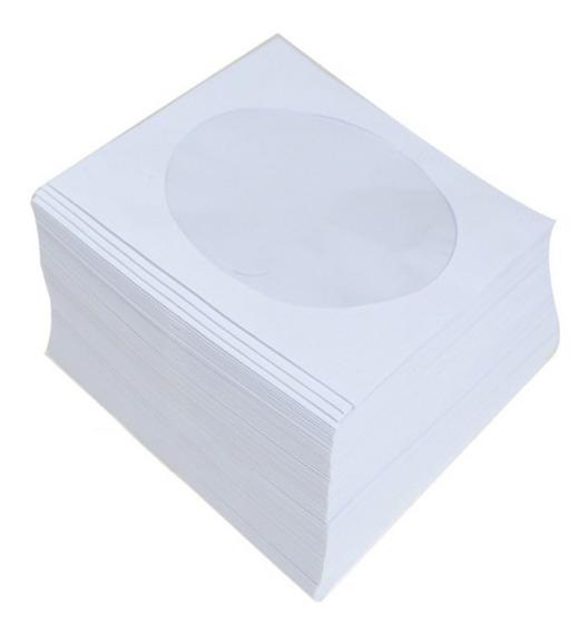 1000 Envelopes Papel Para Cd Dvd Visor Transparente + Brinde
