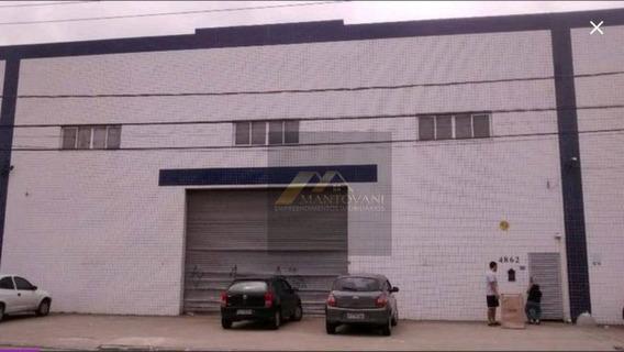 Galpão Para Alugar, 1000 M² Por R$ 16.000/mês - Vila Tupi - Praia Grande/sp - Ga0012
