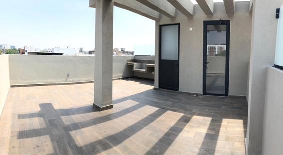 Departamento Con Roof Garden En Venta En Colonia Narvarte
