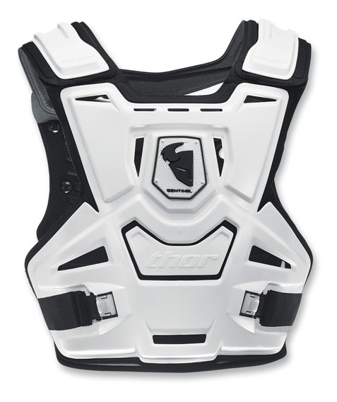Pecheras Motocross Thor Sentinel Negras Y Blancas