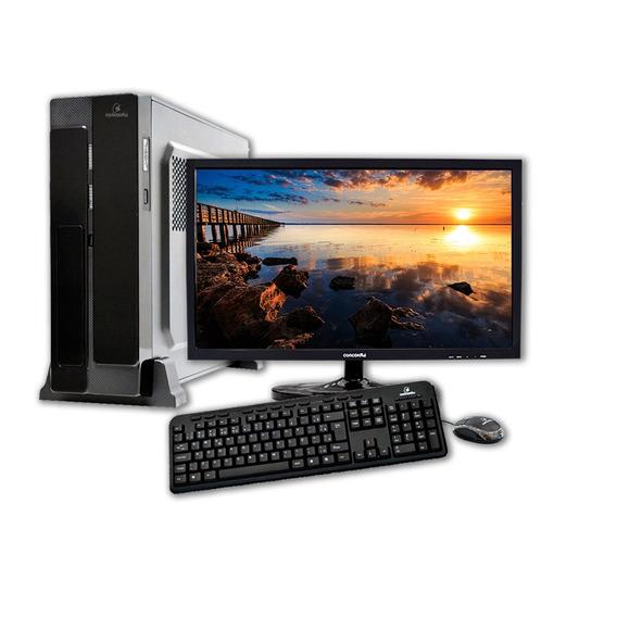 Computador + Monitor 21.5 Concordia - Sff Core I3 4gb Ssd