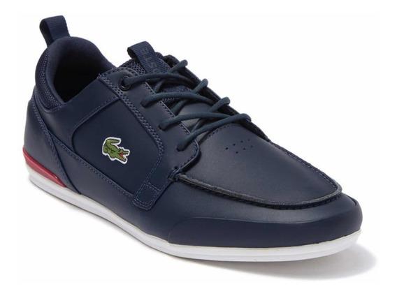 Tenis Zapatos Lacoste Casual En Cuero Original Con Caja