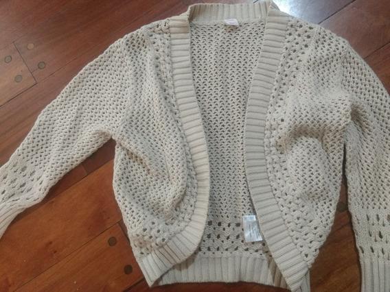 Saco Hilo Beige Nena T 8 Calado.sweater.buzo Pullovers