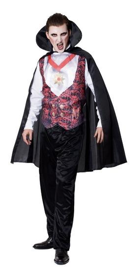 Disfraz De Dracula Halloween Adulto Talle 2