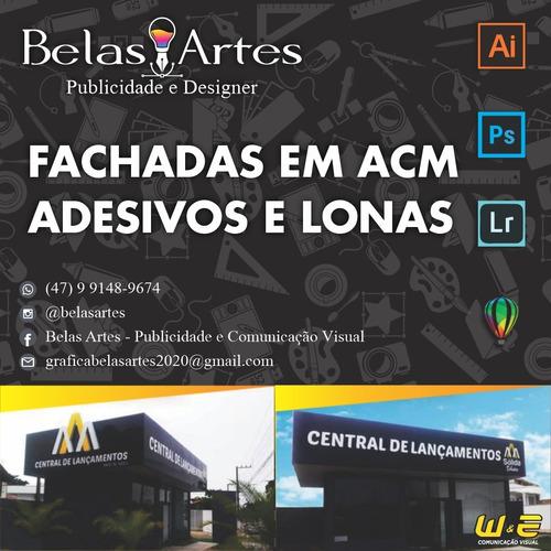 Imagem 1 de 3 de Acm/acrilicos/pvc/lonas E Adesivos