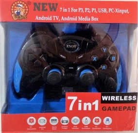 Joystick Sem Fio Wireless Ps2 Ps3 Pc Tvs Box Android Tablets