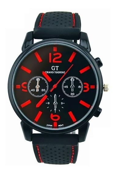 Relógio Masculino Vermelho E Preto Barato Frete Grátis 12x