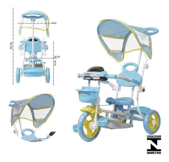 Triciclo Motoca Passeio Infantil 2 Em 1 Bw003 Importay