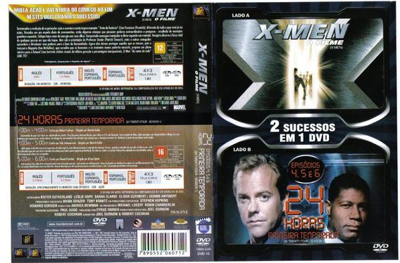 Dvd Duplo De 2 Lados X-men O Filme E 24 Horas Original