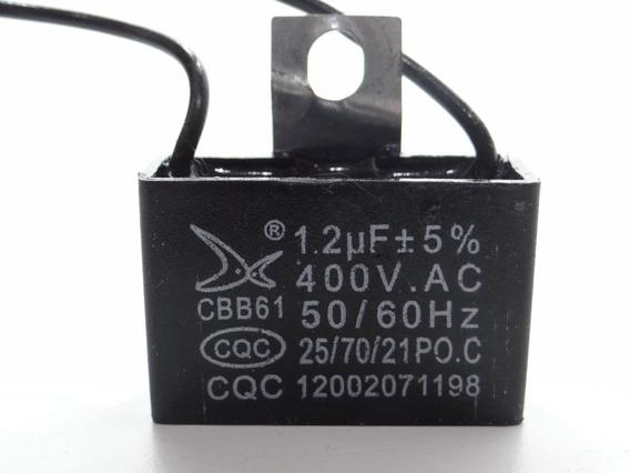 Capacitor Partida 1.2uf X 400vac Fio Cbb61 25/70/21