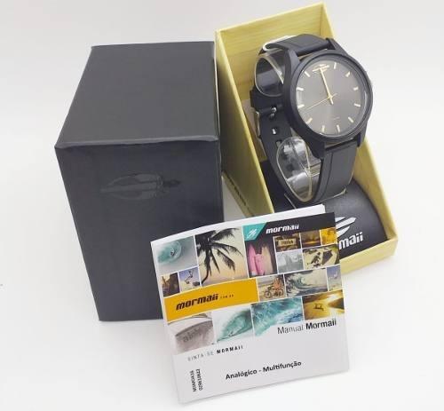 Relógio Mormai Masculino Feminino Preto Original Mo2035js/8p