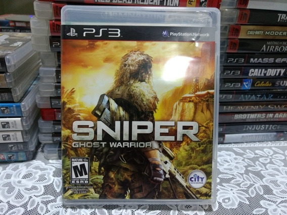 Jogo Ps3 Sniper Ghost Warrior Mídia Física