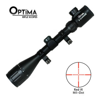 Mira Telescopica Optima 3-12x44 Con Zoom Y Mildot Iluminado