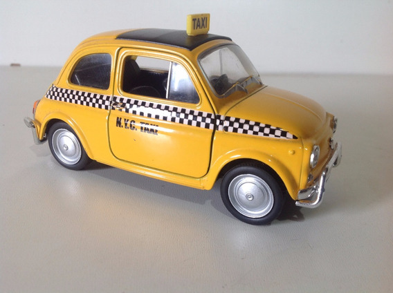 Miniatura Welly 1:36 Fiat Nuova 500 Taxi New York City