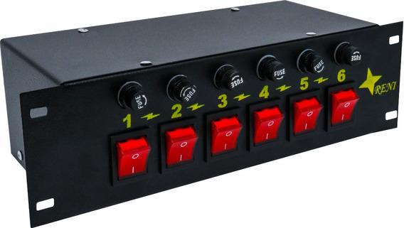 Mesa Chaveadora 06 Canais Para Iluminação E Áudio - Bivolt