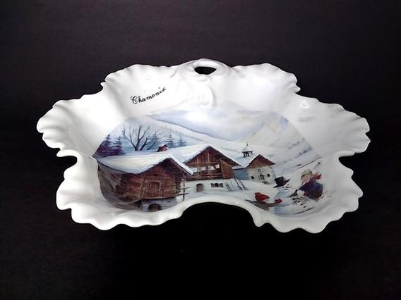 Antiguo Centro De Mesa / Despojador Porcelana Limoge France