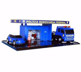 Miniatura Posto Policia Rodovia Maquete Diorama Plataforma