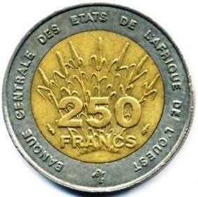 Moeda De 250 Francs De 1992