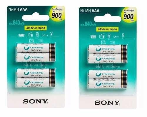 Kit Pilhas Recarregaveis Sony C/8 Pilhas Aaa 900mah