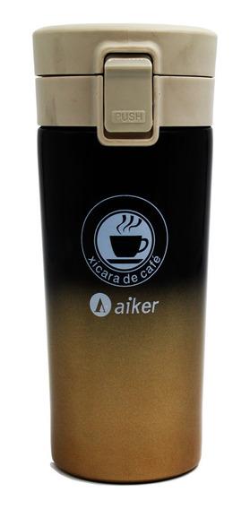 Copo Café Térmico Inox Filtro Aiker Ak3501 Inquebrável