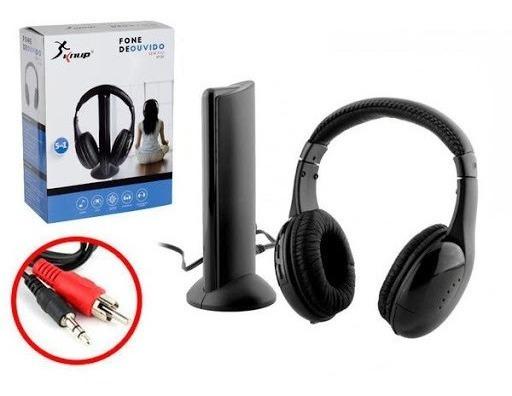 Fone De Ouvido Sem Fio Wireless 5 Em 1 Knup Kp-323 Headphone