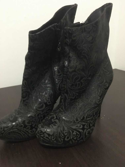 Zapatos Botineta Tanara Talle 36 Mujer. Cuero. Taco Caña Baj