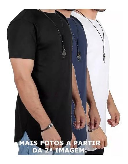 Kit C/8 Camisas Blusas Masculinas Longline Oversize Swag