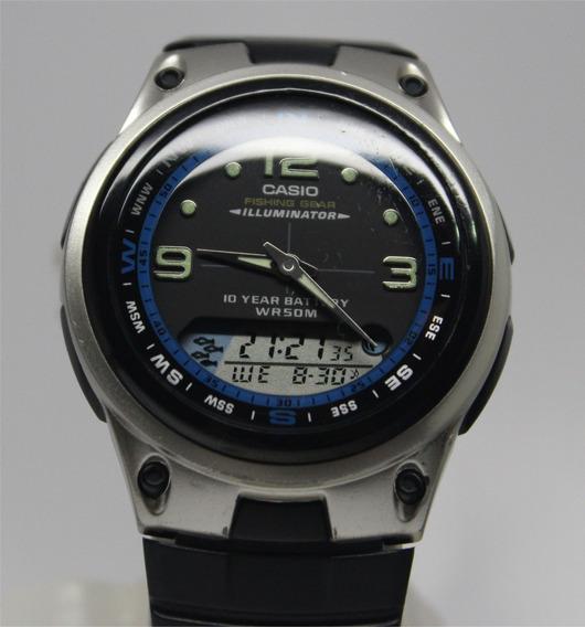 Reloj Casio Aw82 Original Fase Lunar Para Pesca Illuminator