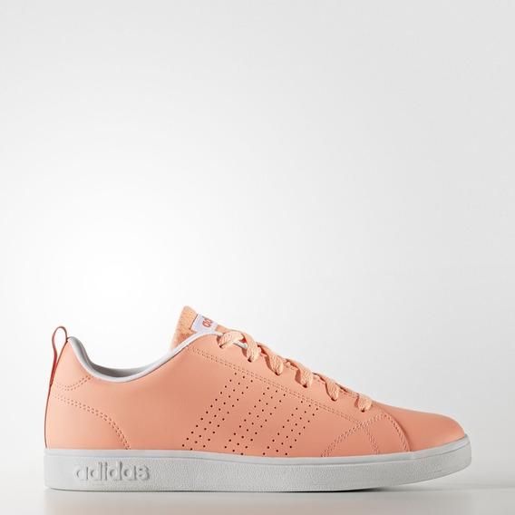 Tenis adidas Advantage Naranja W 74578 Casual Para Dama